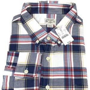 J. Crew Summer Plaid Button Down Shirt Mens Sz XL